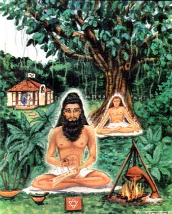 Bhogar Nath and his young disciple Babaji at Kataragama