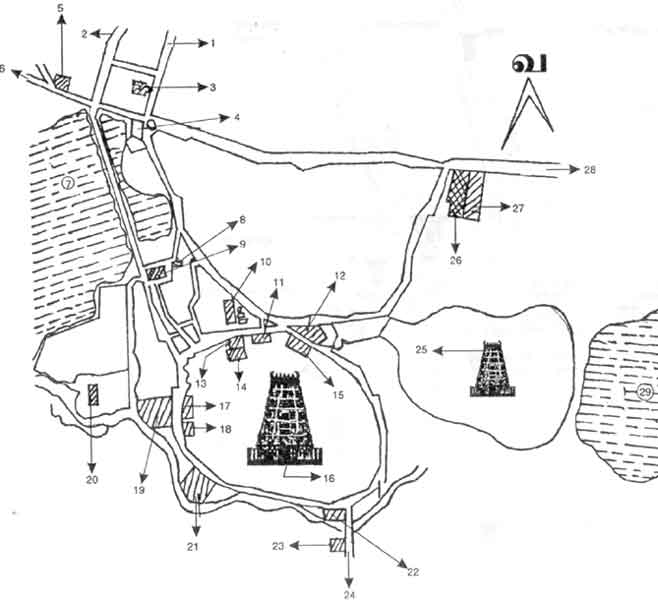 Map of Palani and Temple facilities