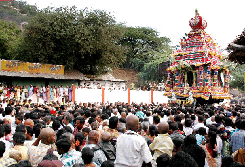 Car Festival on the 7th day of Panguni Uttiram at Palani