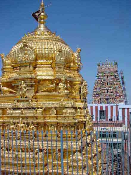 Kovil Raja Gopuram Vimanam With Raja Gopuram
